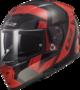 LS2 FF390 Breaker motorhelm Physics glans zwart rood