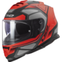 LS2 FF800 Storm motorhelm Faster mat rood titanium