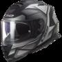 LS2 FF800 Storm motorhelm Faster mat titanium zilver