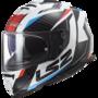 LS2 FF800 Storm motorhelm Racer blauw rood wit