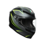 AGV K6 Flash Integraal Helm Zwart Zilver Fluo Geel