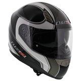 LS2 FF384 helm Fortuna glans zwart titanium_