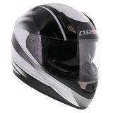 LS2 FF384 helm Iron glans wit zwart_