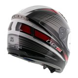 LS2 FF384 helm Big One glans wit rood_