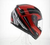 MT Mugello helm Maker Zwart Rood_