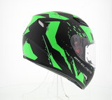 MT Mugello helm Vapor zwart fluor groen_