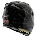 Shiro SH-3700 R15 helm zwart wit geel met zonnevizier_