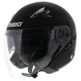 Shiro Jet Helm SH-55 Solid Mat Zwart_