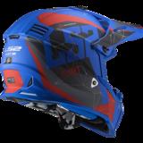 LS2 Crosshelm MX437 Fast EVO Alpha mat blauw_
