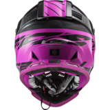 LS2 Crosshelm MX437 Fast EVO Roar mat zwart glans paars_
