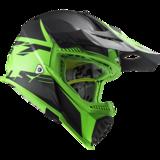 LS2 Crosshelm MX437 Fast EVO Roar mat zwart groen_
