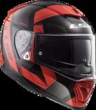 LS2 FF390 Breaker motorhelm Physics glans zwart rood_