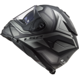 LS2 FF800 Storm motorhelm Faster mat titanium zilver_