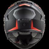 LS2 FF800 Storm motorhelm Racer mat titanium fluo oranje_