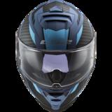 LS2 FF800 Storm motorhelm Racer mat titanium blauw_