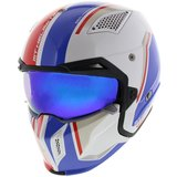 MT Streetfighter SV Twin helm Glans Wit Blauw Rood_