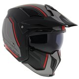 MT Streetfighter SV Twin helm mat zwart Rood_