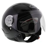 MT kinder jet helm Urban zwart_