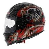 LS2 FF358 Celtic Motorhelm glans zwart rood_