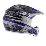LS2 MX442 Crosshelm Airforce F2 glans blauw_