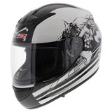 LS2 FF351 Helm Misfits glans wit_