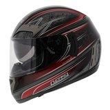 LS2 FF375 helm Garda glans zwart rood_