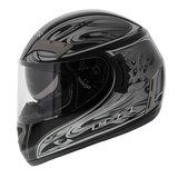 LS2 FF375 helm Shogun glans zwart zilver_