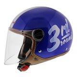 LS2 jethelm OF560 Round glans blauw_