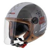 LS2 jethelm OF560 Easy Rider glans zilver_