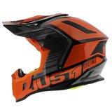 Just1 Crosshelm J38 Blade oranje zwart achterkant