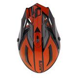 Just1 Crosshelm J38 Blade oranje zwart bovenkant