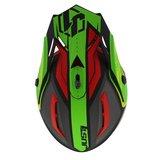 Just1 Crosshelm J38 Blade rood groen zwart bovenkant