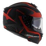MT Blade II Blaster helm mat zwart rood_