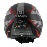 Shark Street Drak Zarco Malaysia GP Mat Antraciet Rood_