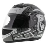 LS2 FF350 Helm Cartoon mat antraciet zilver_