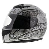 LS2 FF350 Helm Stardust 2 glans zilver_