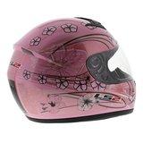LS2 FF350 Helm Stardust 2 glans wit roze_