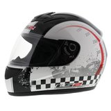 LS2 FF350 Helm Chrono glans wit zwart_