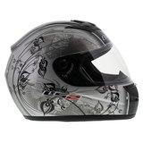 LS2 FF350 Helm Manga glans zilver zwart_