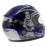 LS2 FF350 Helm Cartoon 2 glans blauw_
