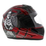 LS2 FF350 Helm Cartoon 2 glans rood_