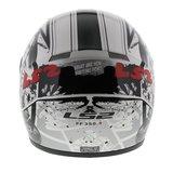 LS2 FF350 Helm Cartoon 2 glans wit_