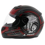 LS2 FF350 Helm Cartoon mat antraciet rood_