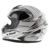 LS2 FF350 Helm Diamond glans wit zwart_