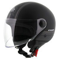 MT Street Entire helm mat zwart