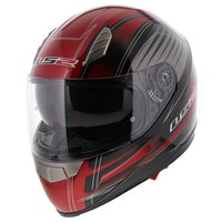 LS2 FF384 helm Big One glans rood