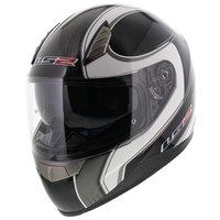 LS2 FF384 helm Fortuna glans zwart titanium