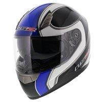 LS2 FF384 helm Fortuna glans zwart blauw