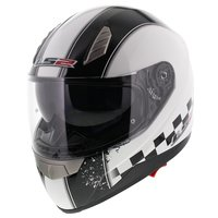 LS2 FF384 helm Speed glans wit