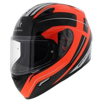 MT Mugello helm Maker Zwart Oranje